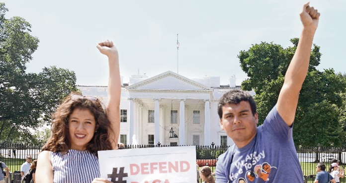 Dreamers protestan en Washington
