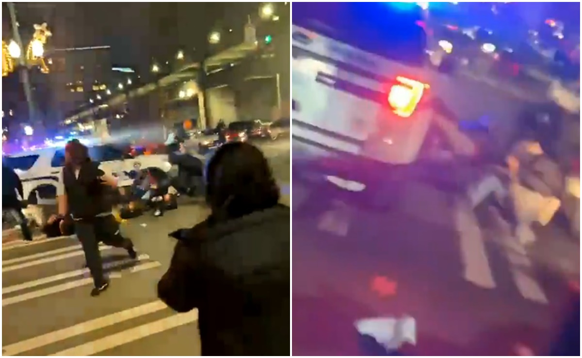 Video Policía arrolla a multitud en calles de Washington