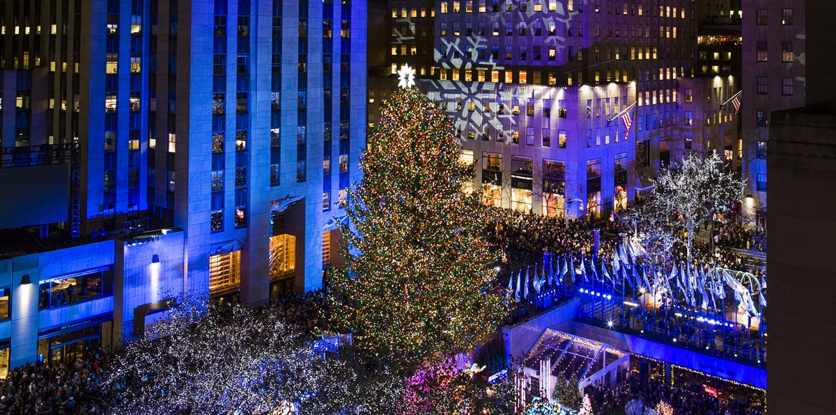 Rockefeller Center Christmas tree, árbol de Navidad, Navidad, Rockefeller Center, árbol del Rockefeller Center, Nueva York, Manhattan