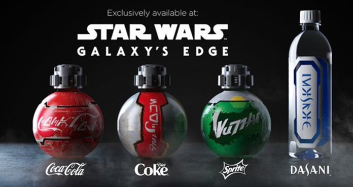 Star Wars: Galaxy's Edge, botellas de Star Wars, Disneyland, Disney World,