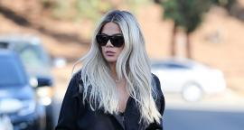Khloe Kardashian swept figure leggings for California