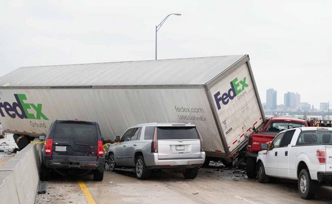 Accidente en Fort Worth Texas