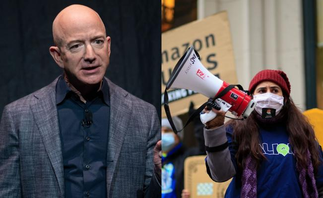 Protesta, Jeff Bezos, Amazon