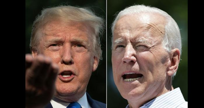 El presidente de EU, Donald Trump vs el ex vicepresidente Joe Biden