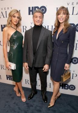 Sistine Stallone y Sylvester Stallone