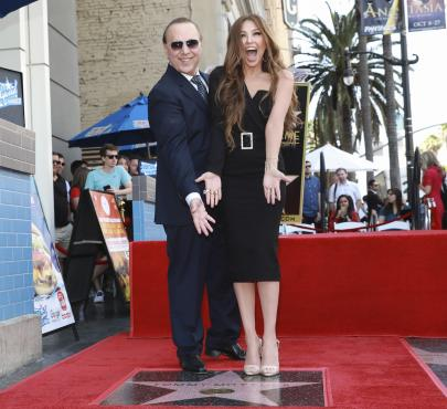Thalía, Tommy Mottola, Paseo de la Fama de Hollywood, hijos de Thalía, Hollywood,