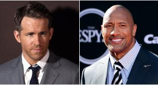 Los actores Ryan Reynolds y Dwayne Johnson