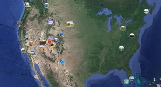 Google Earth, Parques Nacionales de Estados Unidos,