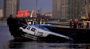 Accidente de helicóptero en el East River en 2011