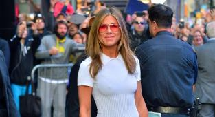 Jennifer Aniston, Nueva York, serie the morning show, vestido