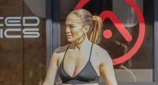 Jennifer Lopez en leggings