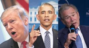 Donald Trump, Barack Obama, George W. Bush