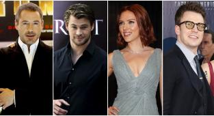 Robert Downey Jr., Chris Hemsworth, Chris Evans, Scarlett Johansson