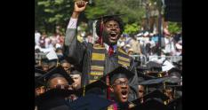 estudiantes universitarios del Morehouse College, Atlanta