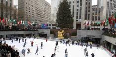 The Rink, pista de hielo, pista de patinaje, patinaje, Rockefeller Center, New York, Manhattan,
